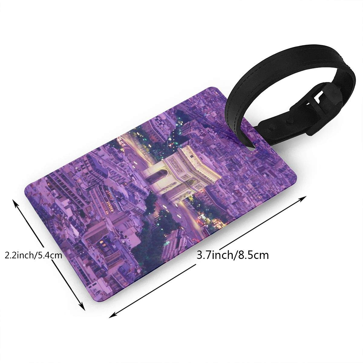 Arc De Triomphe Cruise Luggage Tag For Suitcase Bag Accessories 2 Pack Luggage Tags