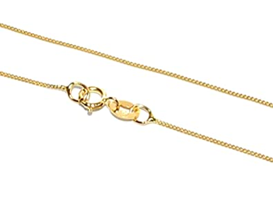 MARKYLIS - REAL STUNNING 9ct GOLD FINE CURB LINK STYLE CHAIN NECKLACE LADIES - 0.8mm - 24inch - 24 FYJTCdz5d