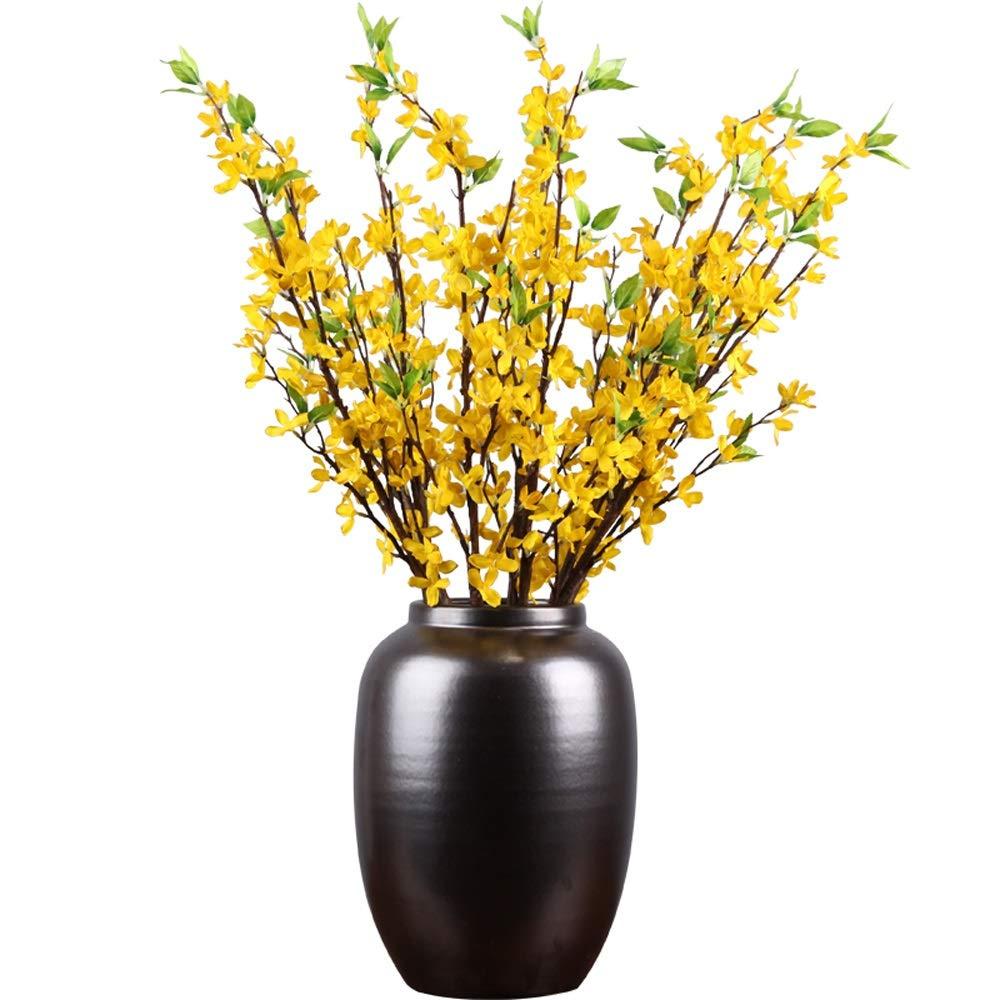 セラミック花瓶用花緑植物結婚式の植木鉢装飾ホームオフィスデスク花瓶花バスケットフロア花瓶 B07RJGYYQD
