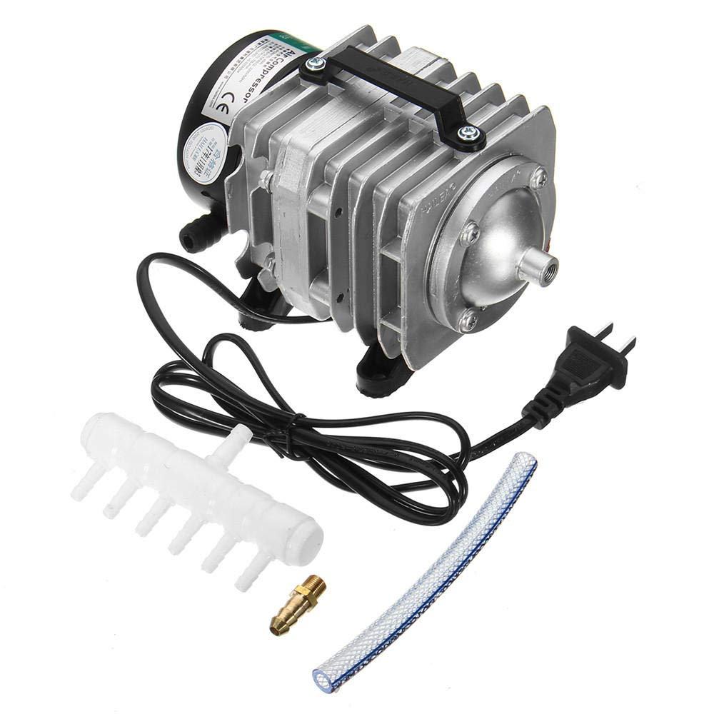 45W 220V 70L Min Portable Electromagnetic Air Compressor Air Pump for Aquarium Hydroponic Systems