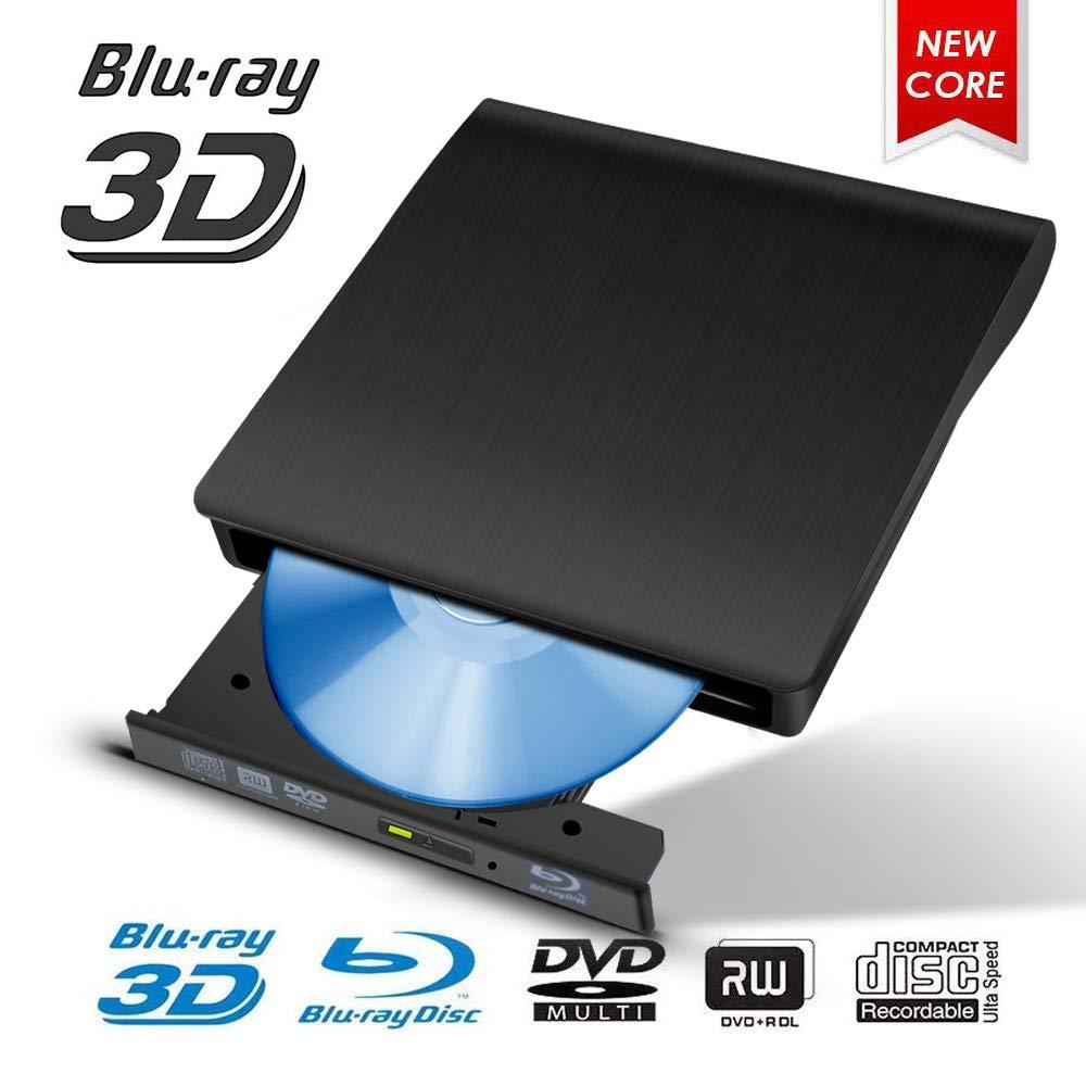Fancartuk Unidad Externa BLU Ray, USB 3.0 3D 4K DVD CD Bluray ...