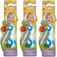 Mee Mee Baby Toothbrush with Compact Folding (Pack of 3, Blue)