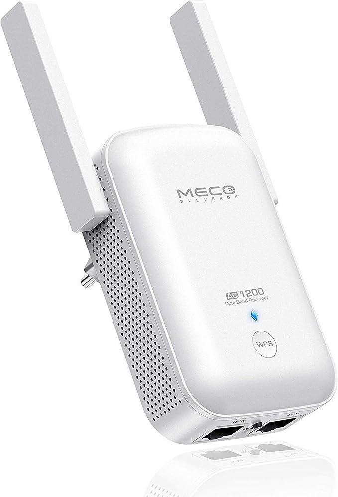 MECO AC1200 Repetidor WiFi Inalámbrico Amplificador de Señal Wi-Fi Repetidor Extensor de Rango Punto de Acceso WiFi Universal de Doble Banda 2.4GHz + ...