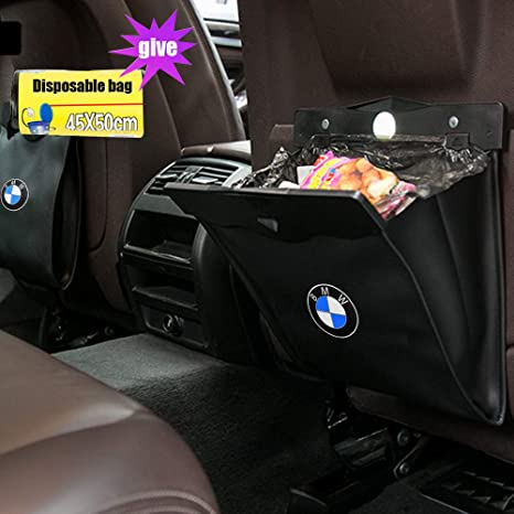 MASHA Tesla 3 Model Garbage Cans Car Bin Trash Wastebasket Vehicle Rubbish Container Back Seat Hanging Auto Organizer for Tesla Accessories