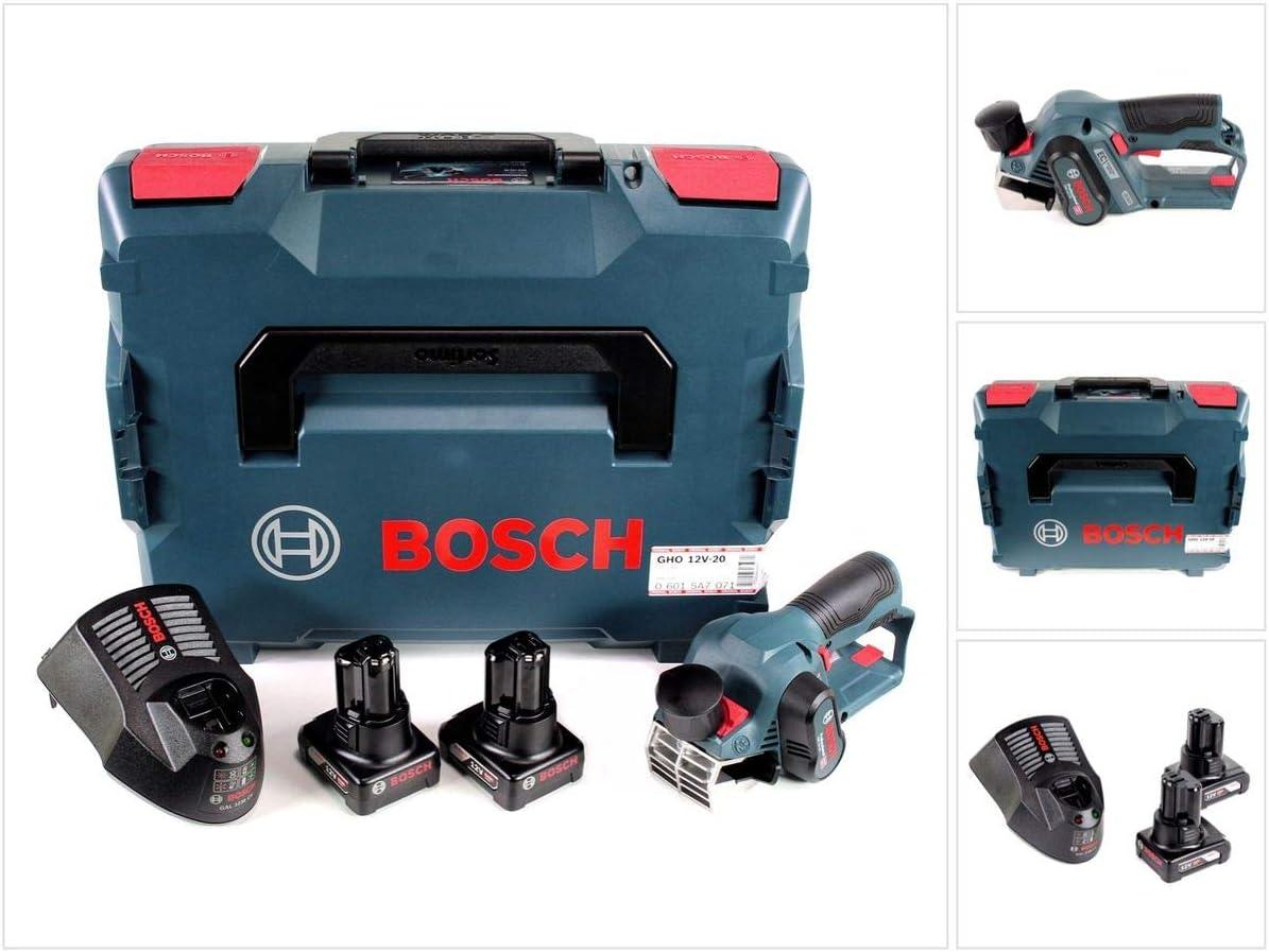 Bosch GHO 12 V de 20 Maquinilla de batería Professional en L-Boxx + 2 x GBA 12 V 6 Ah Batería + Gal 1230 CV Cargador rápido: Amazon.es: Bricolaje y herramientas