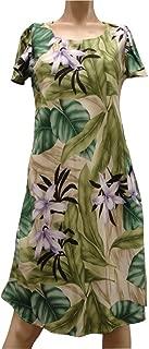 product image for Orchid Jungle Hawaiian Dress - Womens Hawaiian Dress - Aloha Dress - Hawaiian Clothing - 100% Rayon Green XL