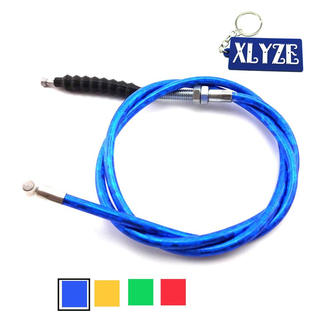 XLYZE Cable de embrague rojo para 50cc 110cc 125cc 140cc 150cc 160cc Chinese Pit Dirt Bike Baja SSR TTR SDG Lifan YX CRF50 CRF70 KLX110