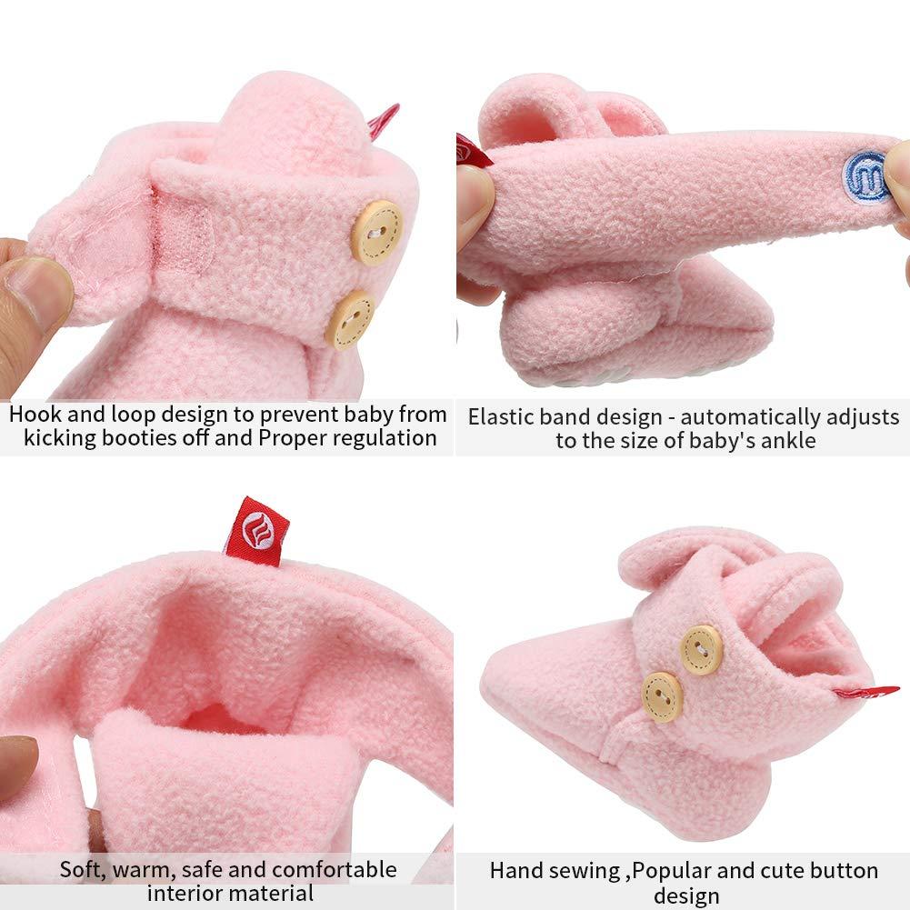 FANTURE Baby Newborn Cozy Fleece Booties with Non Skid Bottom