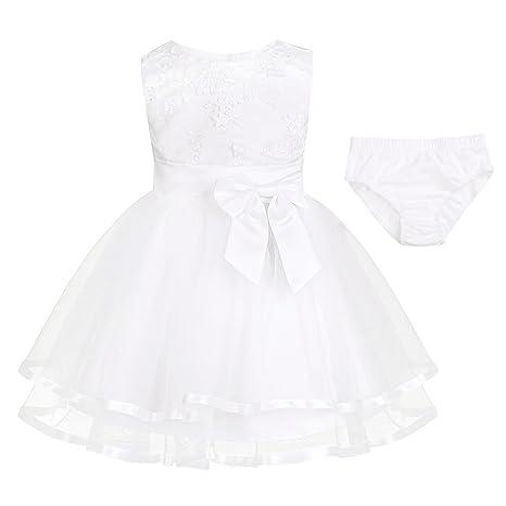 iiniim Baby Mädchen Prinzessin Kleid Blumenmädchenkleid Taufkleid Festlich Kleid Hochzeit Partykleid Festzug Babybekleidung G