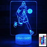 HYODREAM Kobe Bryant Night Light Basketball LED Lamp for Adult or Kids as Birthday Gift or Holidays Present
