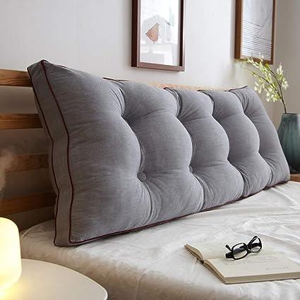 Amazon.com: Cushion Large Washed Cotton Lumbar Pillow Sofa ...