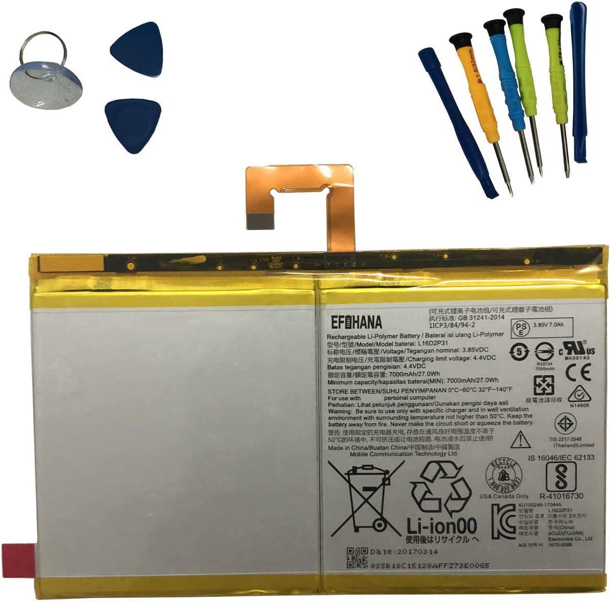 Bateria L16D2P31 para Lenovo TAB4 10 Plus TB-X704F TB-X704L
