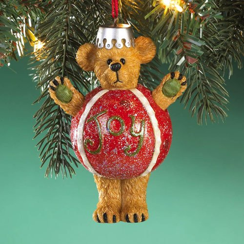 - Boyds Bears Resin JOY ORNAMENT 4016677 Christmas Bearstone New