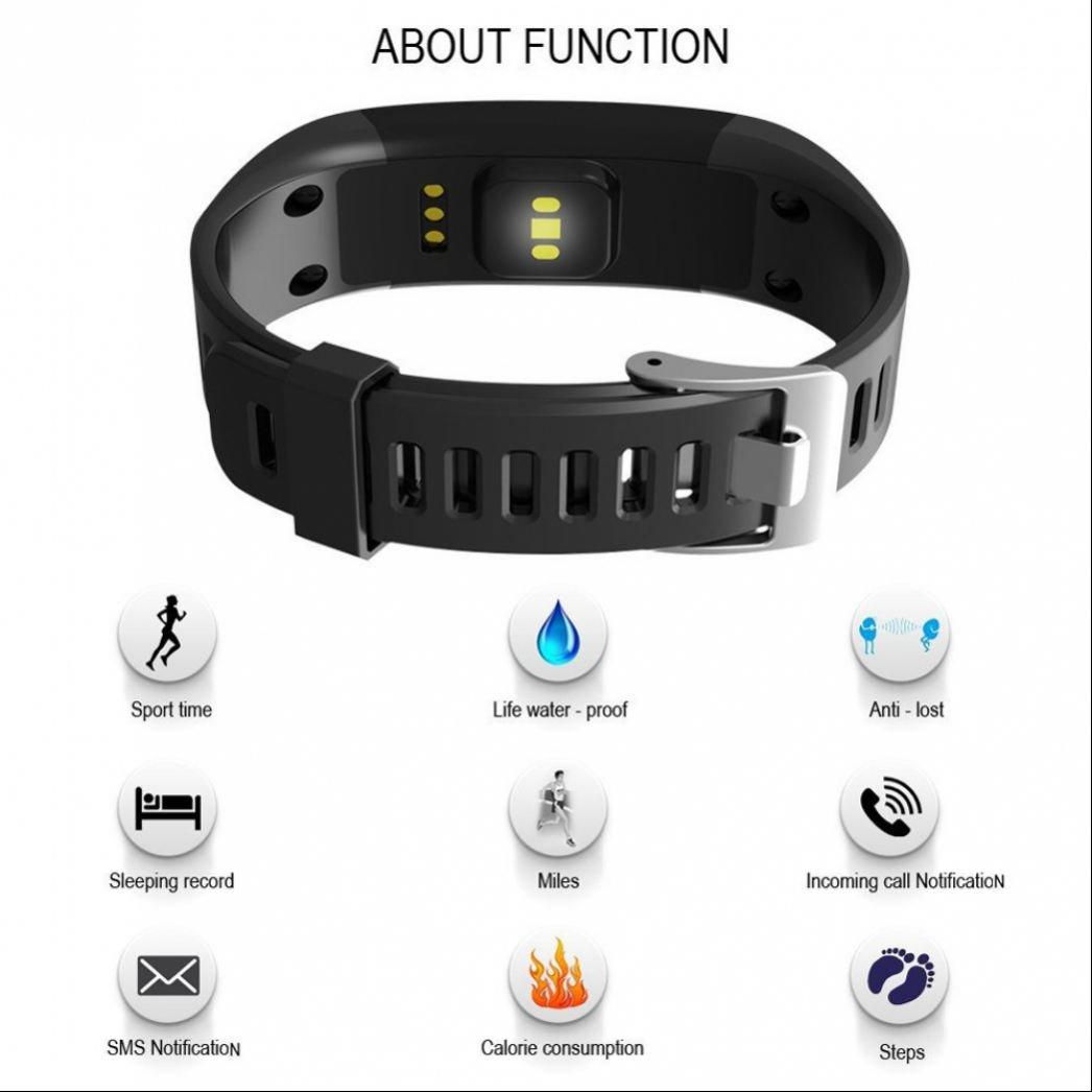 Reloj Inteligente Smartwatch con Fitness Tracker,Monitor de Sueño Recordatorio Inteligente Monitor de Calorías y Sueño Nivel de Salud Cardiorrespiratoria ...