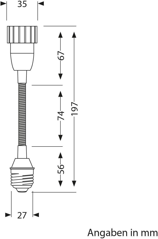 adaptateur avec GU10 douille noir ledscom.de Rallonge E27 /à GU10 /à col-de-cygne Elektra 2 pcs