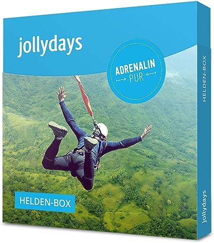 Geschenk f/ür Actionbegeisterte Erlebnis-Geschenkbox Jollydays Helden-Box Gutschein f/ür eines von /über 300 Erlebnissen