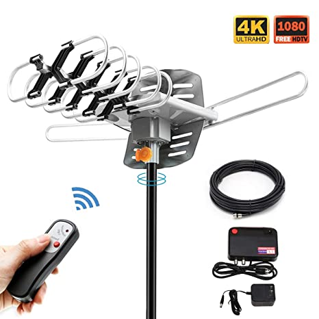 HDTV Antenna,Sobetter Amplified Outdoor 150 Mile Range Digital TV Antenna UHF/VHF/