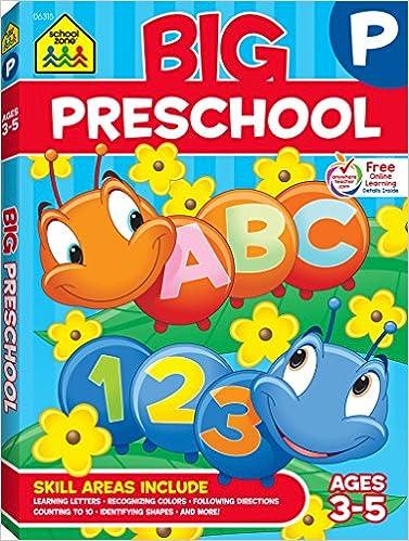 big preschool workbook school zone staff multiple illustrators 9780887431456 amazoncom books - Pictures For Preschool