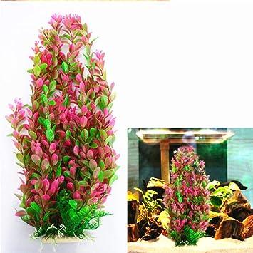 YWJHY Acuario Pecera Ornamento Planta Artificial Plástico Agua Hierba Regalo Casa,Rosado,Una Talla: Amazon.es: Deportes y aire libre