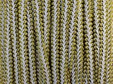 WellieSTR (Gold&White Color) Braided Gimp Trim Ribbon Wedding Prom Party Birthday Decorations 1.2cm X 20yd