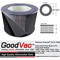 Honeywell 22500 HEPA Enviracaire Air Purifier Filter with Pre-Filter Wrap EV-25 62500 83236 83256 made by GoodVac