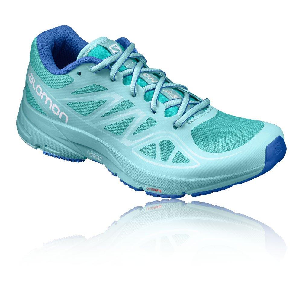 Salomon Women's Sonic Aero W Running Shoe B01HD1V00M 10 B(M) US|Ceramic, Aruba Blue, Nautical Blue