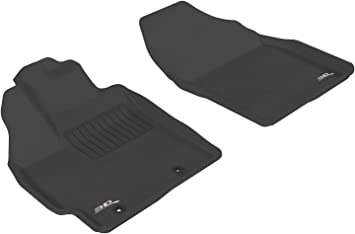 Black Kagu Rubber 3D MAXpider Complete Set Custom Fit All-Weather Floor Mat for Select Toyota Prius v Models