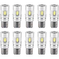 10 Unids T10 5630 6SMD Car Decoding LED Bulb Error Free Side Marker Matrícula Light Decoding LED Bulbs