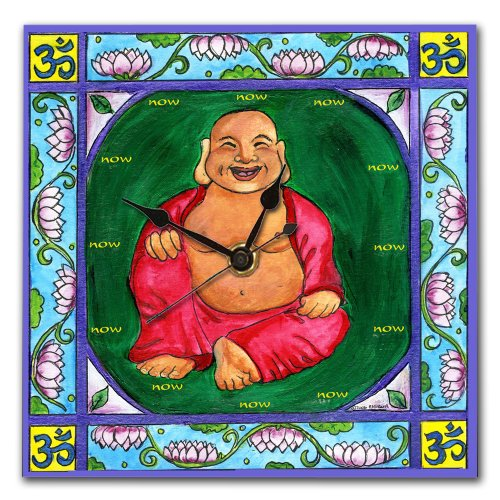 Laughing Buddha Wall Clock - Buddha home decorations