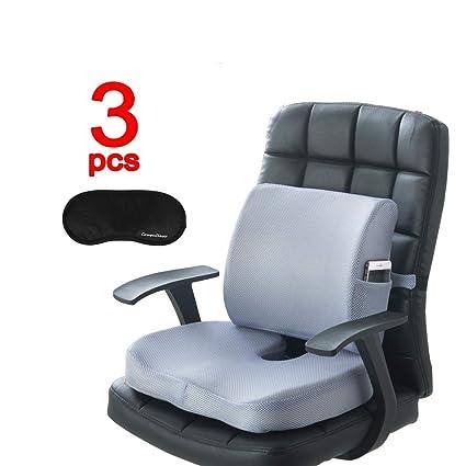 Memory Foam Cojines de asiento El soporte lumbar brinda alivio para el dolor en la parte