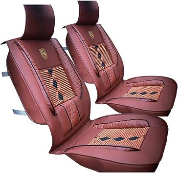 Winomo 1 Stück Leder Auto Sitzbezüge Für Vordersitz Braun Auto