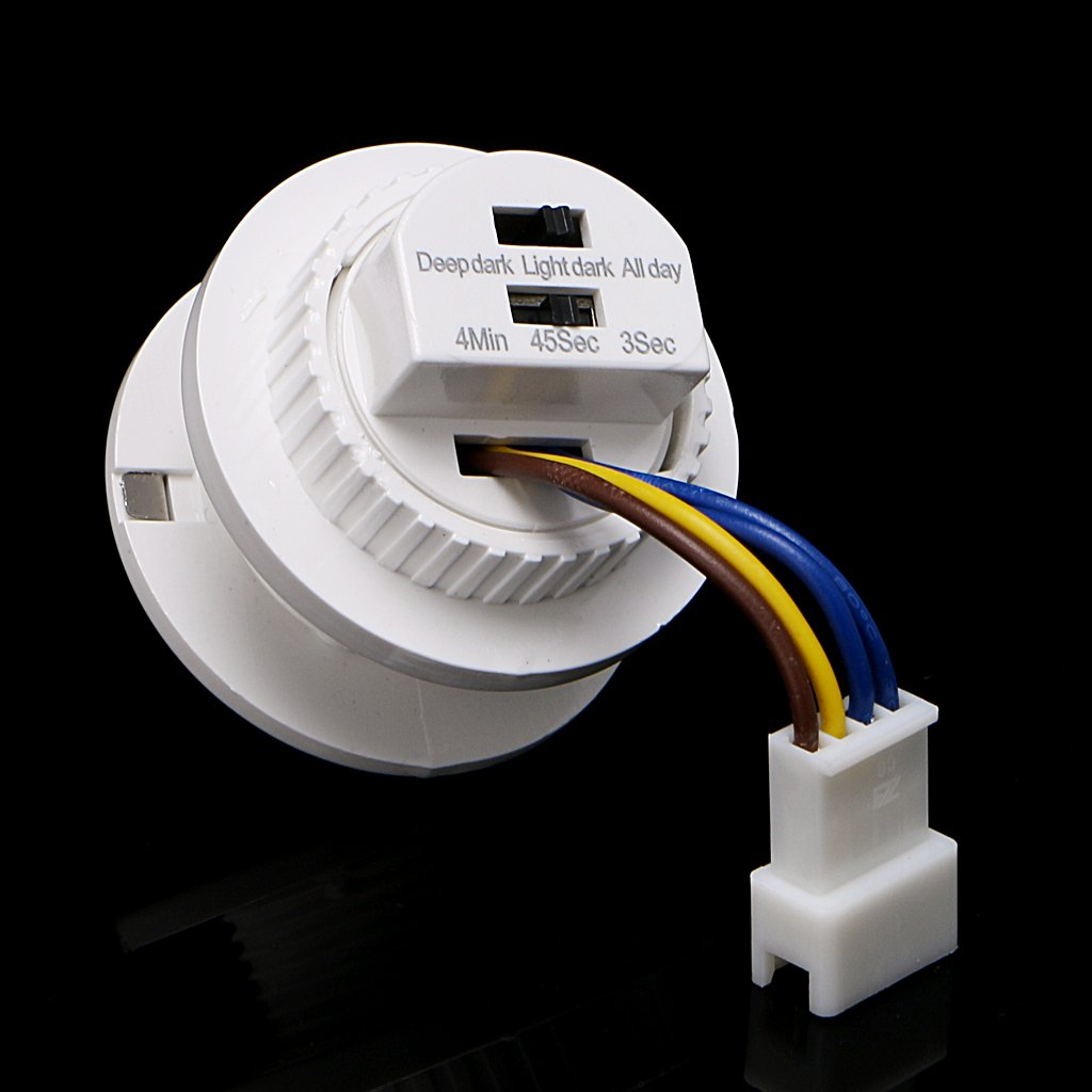 110 Degree Pir Motion Sensor Light Switch With Adjustable Time Delay Wiring Diagram Installing A Security