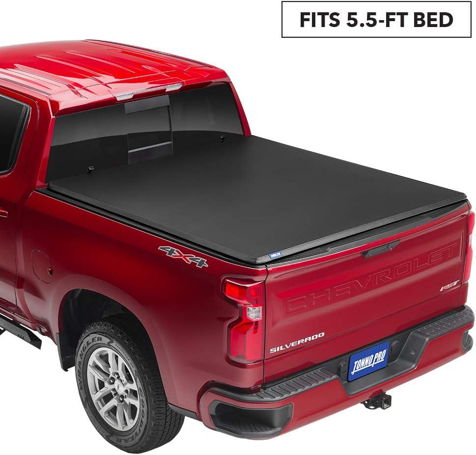Tonno Pro Tonno Fold Fits 2019-20 Ram 1500 57 Bed 42-209 Soft Folding Truck Bed Tonneau Cover