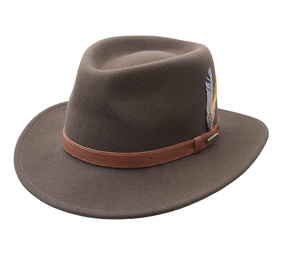 e7a2c9039d9ed Stetson Fedora Hat wool felt men Atlanta Vitafelt - Size M: Amazon.co.uk:  Clothing