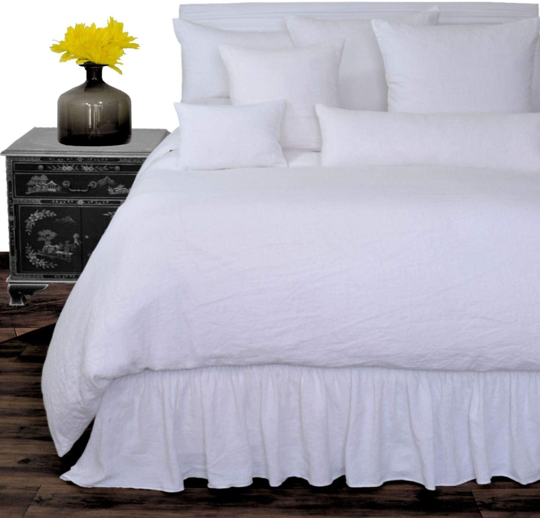 Amazon.com: Luxury White Washed Flax 100 Pure Soft Organic Belgian