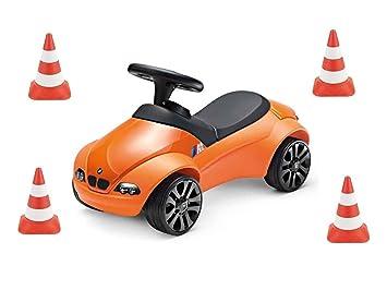 Bmw Genuine Baby Racer Ii M3 Gts Orange Bobby Car With 4 Pylons