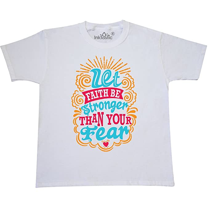 inktastic Let Faith Be Stronger Than Your Fear Toddler T-Shirt