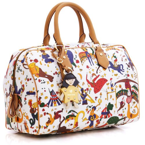 Borsa Bauletto Medio PIERO GUIDI MAGIC CIRCUS in Vera Pelle Bianca 2167D