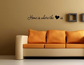Amazoncom Home Is Where The Heart Is  Vinyl Wall Decals - Custom vinyl wall decals sayings for home