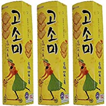 Korean Snack Orion Gosomi Sweet Cookie Cracker 80g * (Pack of 3) Party Food Gift Promotion Children Nutritious Snacks