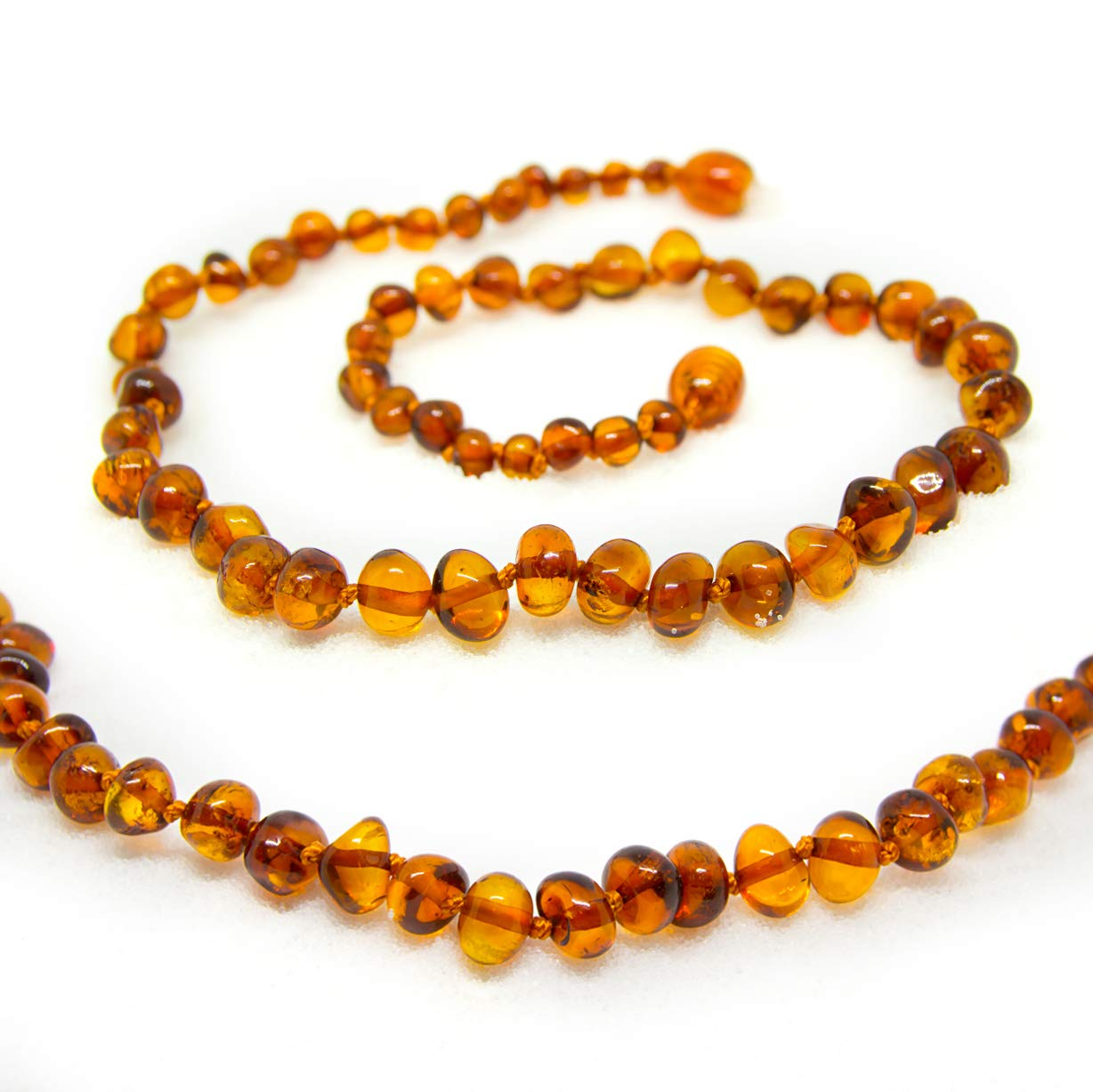 Certified Baltic Amber Necklace 25 Inch (honey) - Anti-inflammatory by The Art of Cure