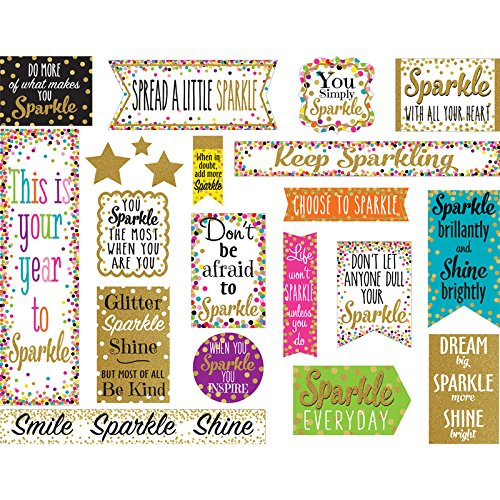 Bulletin Self Esteem Boards (Teacher Created Resources Confetti Sparkle and Shine Mini Bb by eCom Rocket LLC)