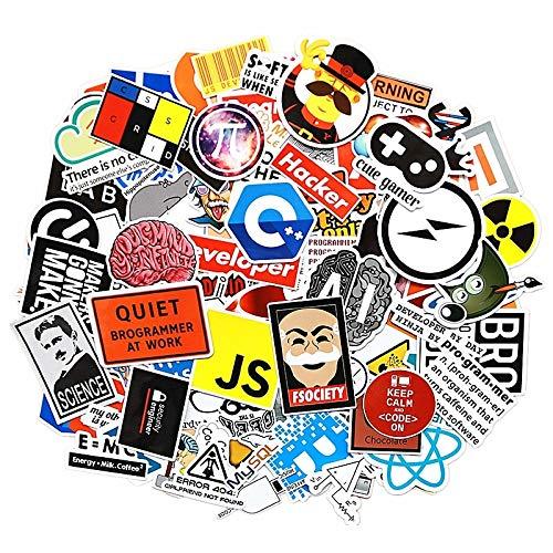 102pcs Internet Programming Stickers Science JS PHP C Language Cloud Docker Developer Sticker for DIY Laptop Phone Car