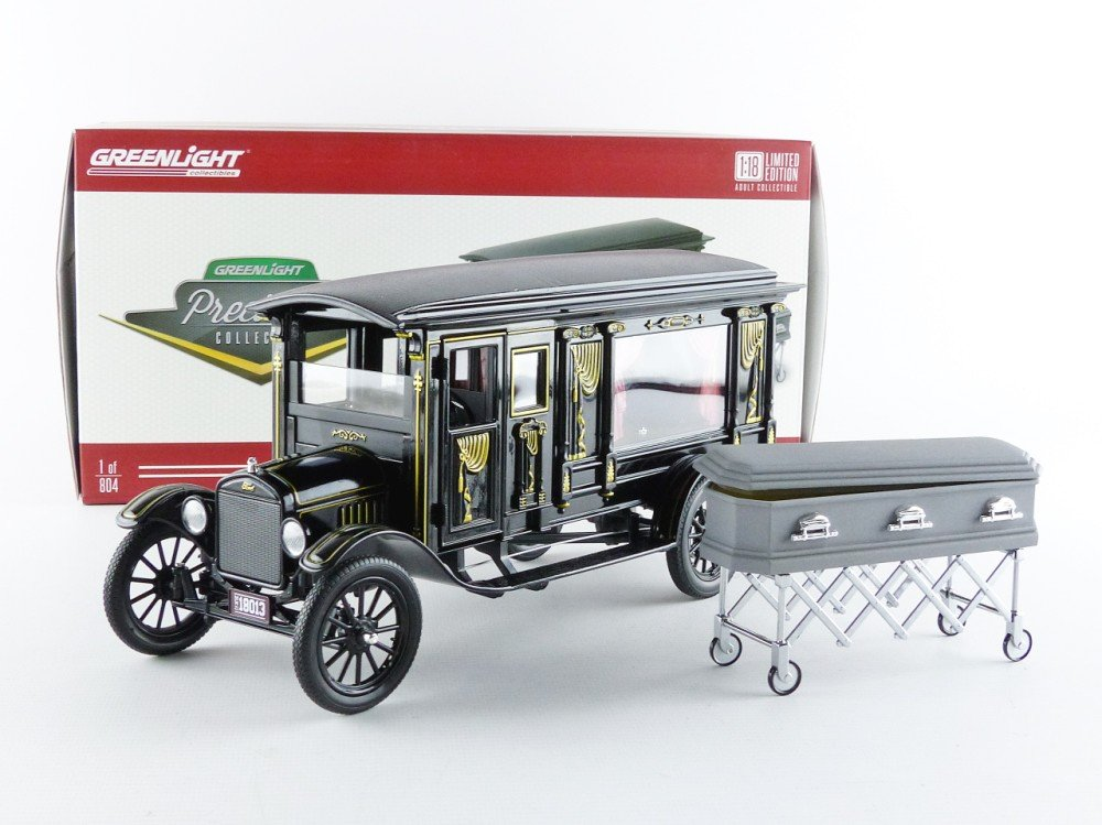 GreenLight Precision Collection 1921 Ford Model T Ornate Carved Hearse Vehicle PC-18013