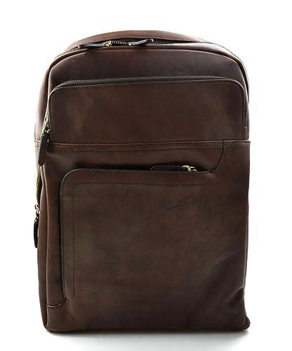 Mochila de piel mochila piel mochila marron oscuro hombre mujer mochila de viaje mochila de cuero
