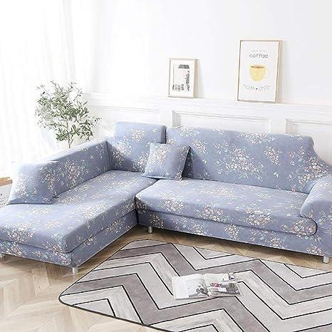 AMZJIEFU Fundas De Sofas Chaise Longue Floral Priting Sofa ...