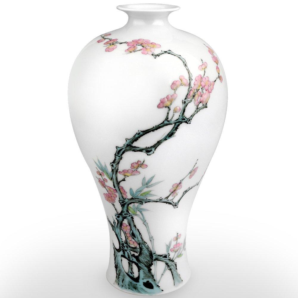 Traditional Chinese Ceramic Decorative Jar Vase,Jingdezhen Oriental Handcrafted Porcelain Decro by XUZOU