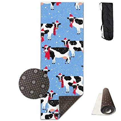 Amazon.com: Festive Cows, Eco-Friendly Non-Slip Yoga Mat ...