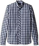 Fred Perry Men's Summer Tartan Shirt, Navy, Small
