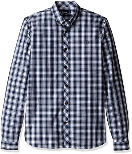 Fred Perry Men's Summer Tartan Shirt, Navy, XX-Large by Fred Perry